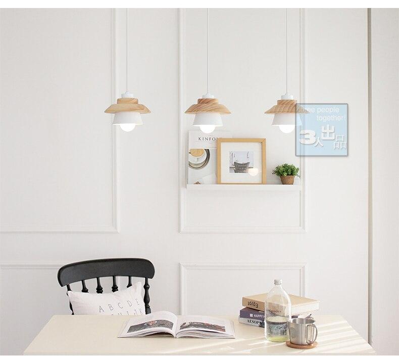 de scandinavische stijl tuin hout ijzer led hanglampen restaurant slaapkamer woonkamer verlichting in de scandinavische stijl tuin hout ijzer led hanglampen