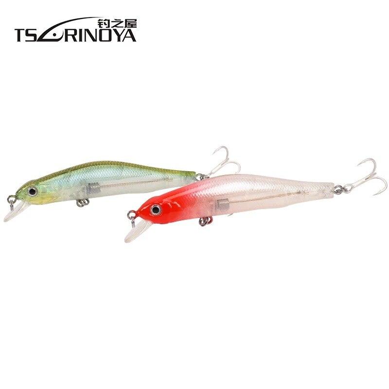 TSURINOYA 8cm 8g Magnetic Centrifugal Minnow Fishing Lure Deep 1.0m 3D Fish Eyes Hook Floating Salt Fresh Water Hard Bait
