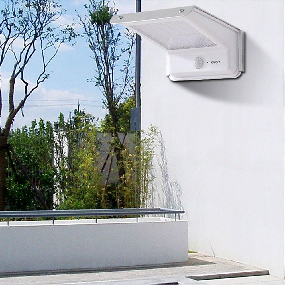 20 Led Solar Lamp Motion Sensor Outdoor Waterproof Body Induction Sound Control Battery Power Garden Wall Light Courtyard Home
