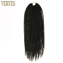 6 pack 30 Strands/pack, Crochet Braids Ombre Braiding Hair VERVES Senegalese Twist Hair extensions free shipping