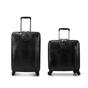 """Image 1 - حقيبة سفر يدوية من كاريلوف 16 """"20"""" للرجال نمط تمساح أصلي حقيبة سفر جلدية للأعمال"""