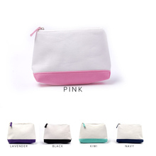 Canvas Makeup Bag Wholesale Blanks Triangle Patchwork Cosmet
