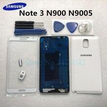 Volle Gehäuse fall Für Samsung Galaxy Note 3 N900 N9005 Note3 Front Glas Mitte rahmen Batterie Zurück Tür Hintere Abdeckung + werkzeuge