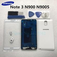 Volledige Behuizing Case Voor Samsung Galaxy Note 3 N900 N9005 Note3 Voor Glas Midden Frame Batterij Back Door Rear Cover + Gereedschap