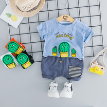 2019 Summer Baby Boys  Clothing Sets Infant Toddler Clothes Suits  Casual T Shirt Shorts Kids Children Casual Suit цена и фото