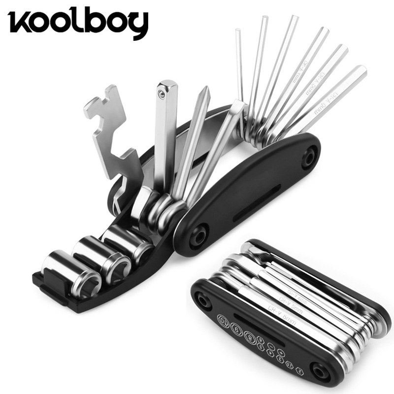 16 In 1 Combination Bicycle Repairing Tool Set Kit Hex Key Wrench Screwdrivers Mountain Bike Bicycle Screwdriver Hand Tool Sets