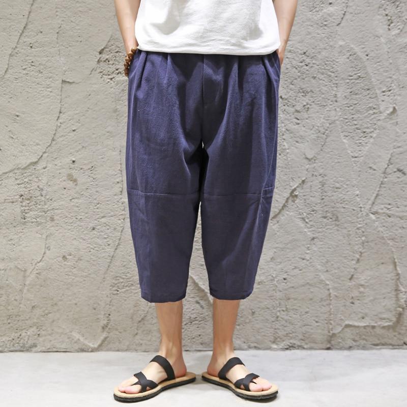 D'été Harem Linge M Ethniques Costumes Plus Beige Pour La Vêtements 5xl Lâche Blue Vent Chinois Hommes Pantalon De dark Nouveaux Taille 2018 rCxPIqOC