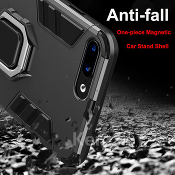 Anti-knock Car Holder Armor Case For iPhone 7 8 Plus 5 5S SE 6 6S Plus Cases For iPhone XS Max X XR Full Protection Back Cover image