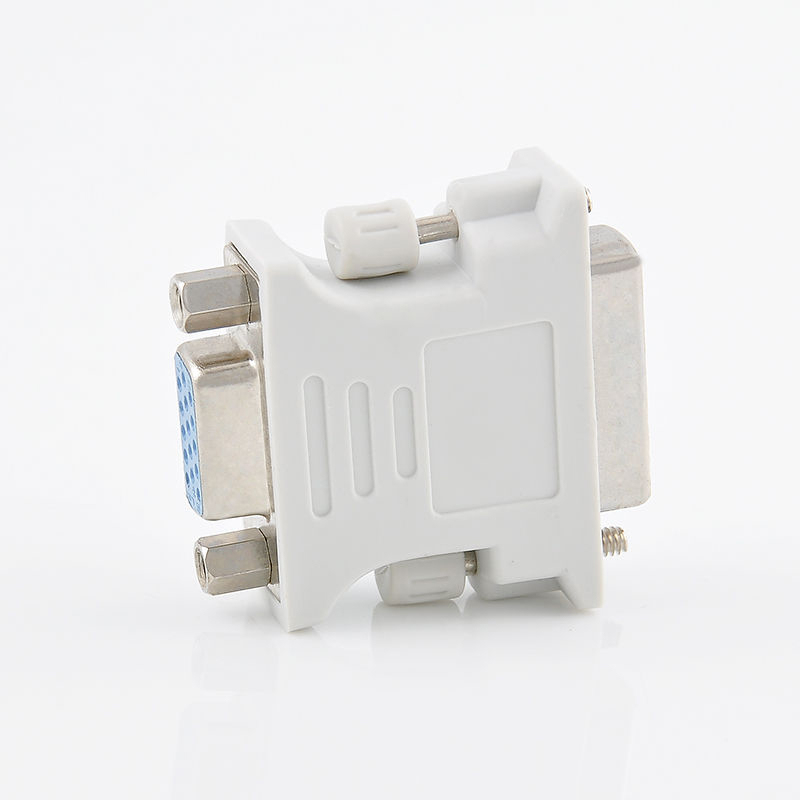 24+1 pin VGA Adapters Alloy+Plastic DVI-D Male To 15 Pin VGA Female Adapter Video Converter Fit For PC Laptop