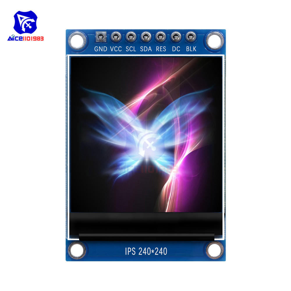 <font><b>1.3</b></font> <font><b>Inch</b></font> TFT LCD Screen Display Module 240240 IPS Full Color with 7Pin SPI Interface ST7789 IC Driver for Arduino C51 STM32 3.3V image