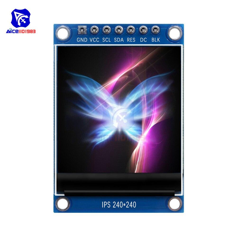 Diymore 1,3 pulgadas TFT LCD pantalla módulo 240240 IPS a todo Color 7Pin SPI interfaz ST7789 IC controlador para Arduino C51 STM32