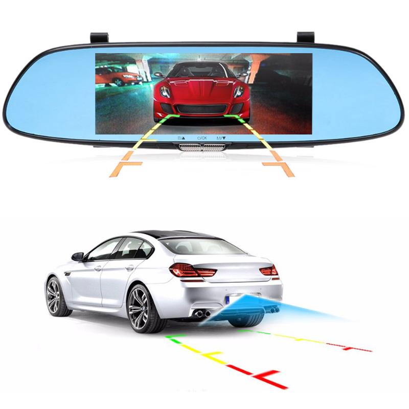 VODOOL 7 Car Camera DVR Dual Lens Rearview Mirror Video Recorder HD 1080P DVR Mirror Dash Cam High Quality цена