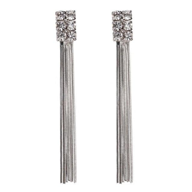 621c5ce117d7 LOVBEAFAS 2018 pendientes largos de borla de moda de cadena de cristal  Vintage Boho pendientes para