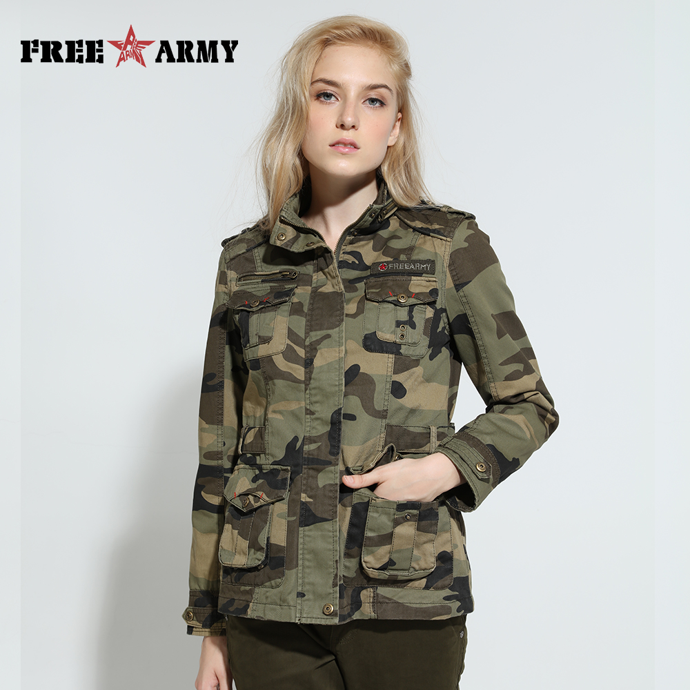 Brand Quality Camo Women Jacket Military Tactical Coat Army Camouflage Jacket Woman Designer Feminine Coat Women Outerwear Coats