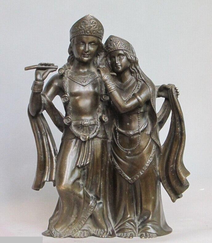 bi002070 10HINDUISM Buddhism bronze Religious Hare Krishna Buddha Ancestors statue