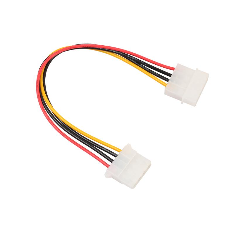 18cm Computer Power Supply IDE 4-pin Molex Male to Female Extension Power Cable Pure Copper Wire Core Cable стоимость