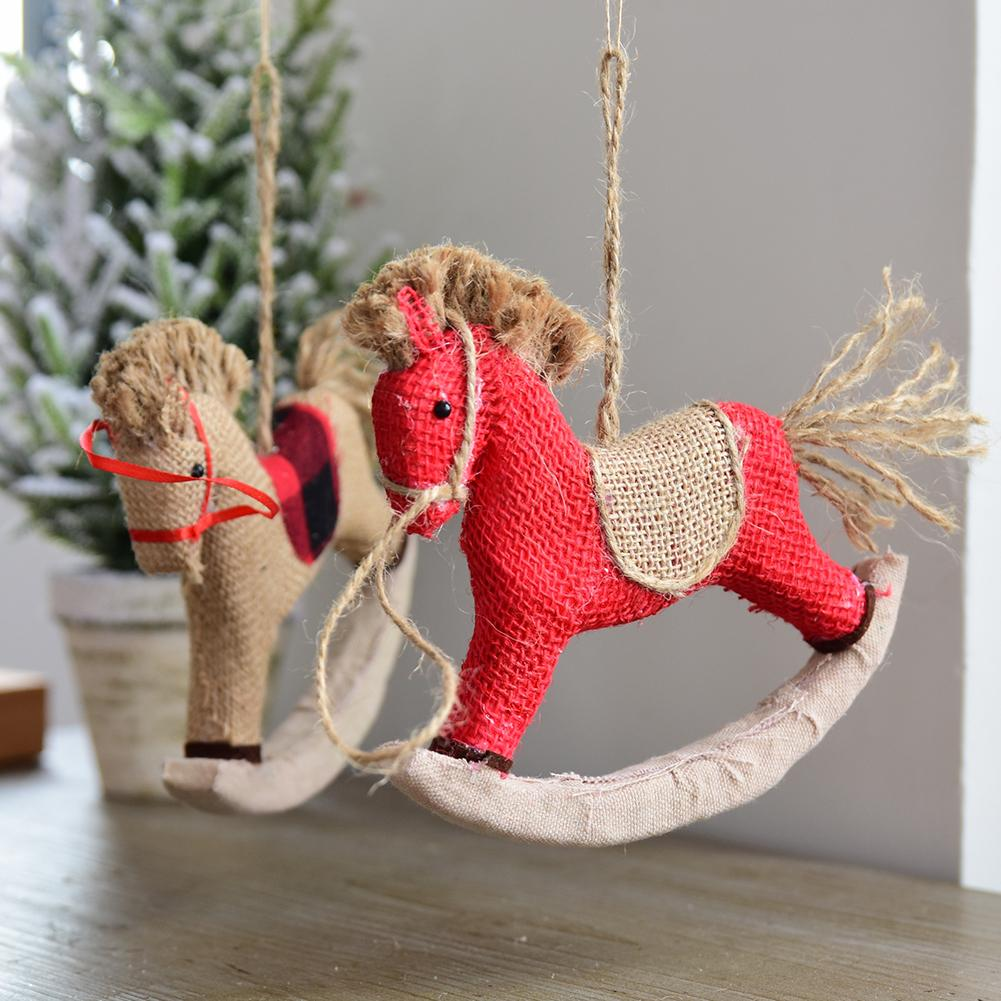 aliexpresscom buy trojan horse merry christmas decorations ornament dolls christmas tree hanging pendant decor xmas decoration natal s1 from reliable - Horse Christmas Decorations