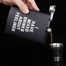 8oz Stainless Steel Hip Flask Set Best Man Gift Box Packing