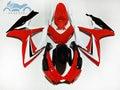 Custom Injection Fairing set for Suzuki GSXR 600 06 07 K6 GSXR600 racing fairings kit GSXR750 2006 2007 red white PL4