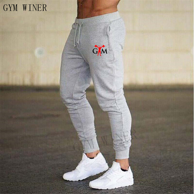 2019 GYMS New Men Joggers Brand Male Trousers Casual Pants Sweatpants Jogger grey Casual Elastic cotton Fitness Workout pan 6
