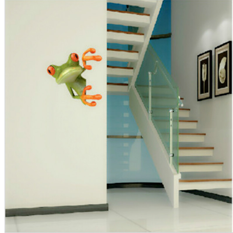 Crazy DIY Frog Toilet Sticker Paste Smile Furniture Decorative Bathroom Wall Stickers 3D Personality Thermal Grease Home Decor in Wall Stickers from Home Garden