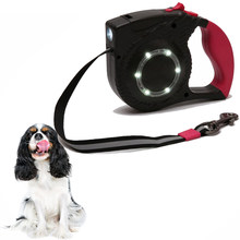 Retractable Dog Leash Walking 5m Leash with Led Light for Medium Small Dogs PL025(China)