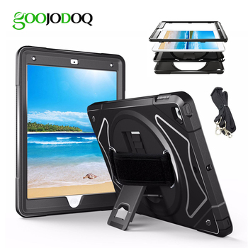 For iPad Mini 3 2 1 4 5 Case Kids Shockproof 360 Stand Silicone PC Protective Cover for iPad Mini 5 2019 Case with Hand Strap
