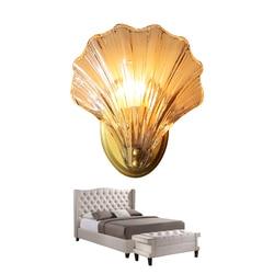 Nowoczesne kreatywny powłoki miedzi kinkiet lampa do sypialni luksusowe lustre miedzi doprowadziły kinkiet salon kryty oprawy oświetleniowe w Wewnętrzne kinkiety LED od Lampy i oświetlenie na