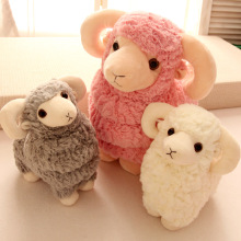 2016 25cm Hot Sale New Goat Lamb White Pink Sheep Soft Plush Toys Doll Xmas Kid Baby Gift  Fast Delivery Good Quality