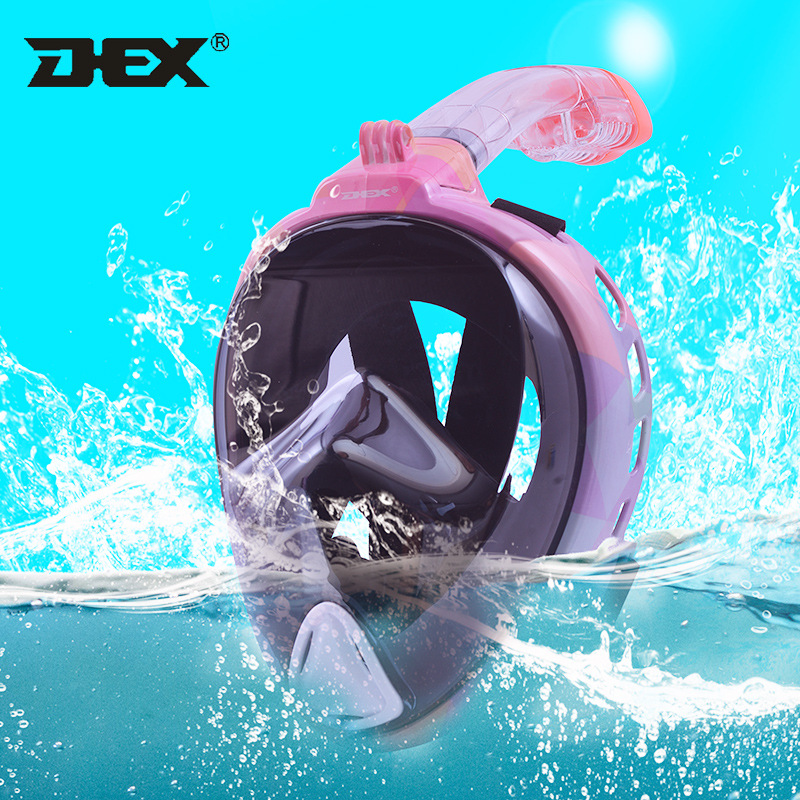 DEX 2019 New Style Underwater Anti Fog Full Face Scuba Mask Anti Leak Snorkeling Mask Swimming Snorkel Diving Equipment-in Diving Masks from Sports & Entertainment    1