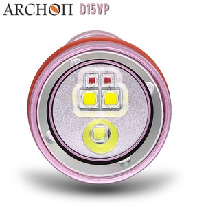 Image 5 - Diving Flashlight ARCHON D15VP 100M Diver Diving Video Light White Red * LED Torch 1300 Lumens Underwater Light 18650 Battery