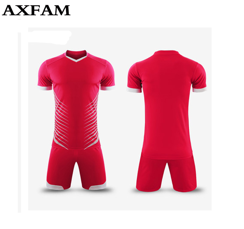 Hot Mens boys paintless Breathable football jerseys short sleeve soccer  shirt blank football team full set uniforms kits suits-in Soccer Sets from  Sports ... f1539bdc3