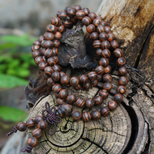 8mm Natural Zebra Stripe Sandalwood / Afric Monarch Sandalwood / Loose Beads Japa Mala Bracelet Jewellry Finding DIY Accessories