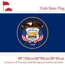 Free shipping 3x5ft American Polyester Uta Banner Size 90*150cm 60*90cm Flag 30*45cm Car