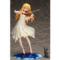 Anime Your Lie in April Dress Miyazono Kaori Pre Painted PVC Action Figure Collectible Model Kids Toys Doll 20cm