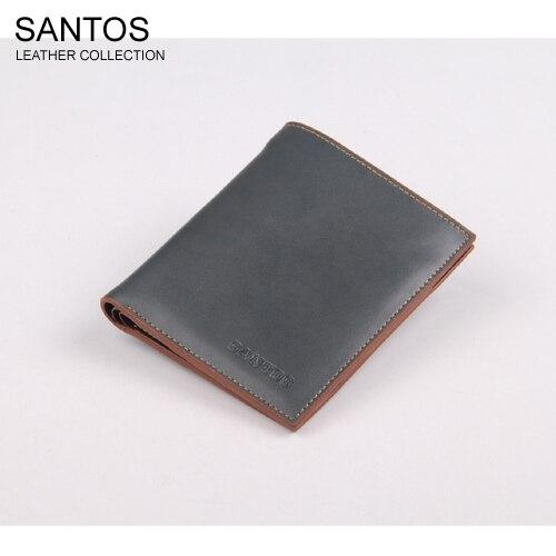Santos Free Shipping + Latest Design Wallet +  Original Wallet +  Man's Leather Purse SAQBS037-L