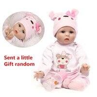 55cm Baby Silicone Dolls Reborn Dolls Simulation Baby Dolls Handmade Reborn Baby Cotton Toy Lifelike Toddler Soft Dolls Gift #ED