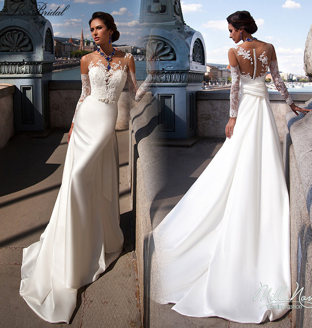 buy new design white wedding dresses 2017