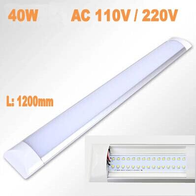 High Quality Newest LED Ceiling Lamp tube 1200mm 40W AC110V 220V Smd2835 Anti dust Super Slim Indoor Decoration LED light bar