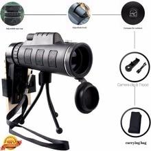 40X60 Zoom HD Dual for Focus Optical Prism Monocular Telescope Lens Tripod Clip Smart Phones Photograph Adjustable lentille