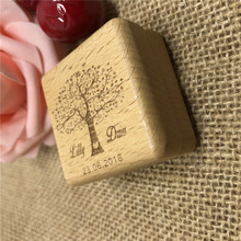 Customized Wedding Ring Box Engagement Personalized Wooden Bearer Storage Favor Gifts Holder