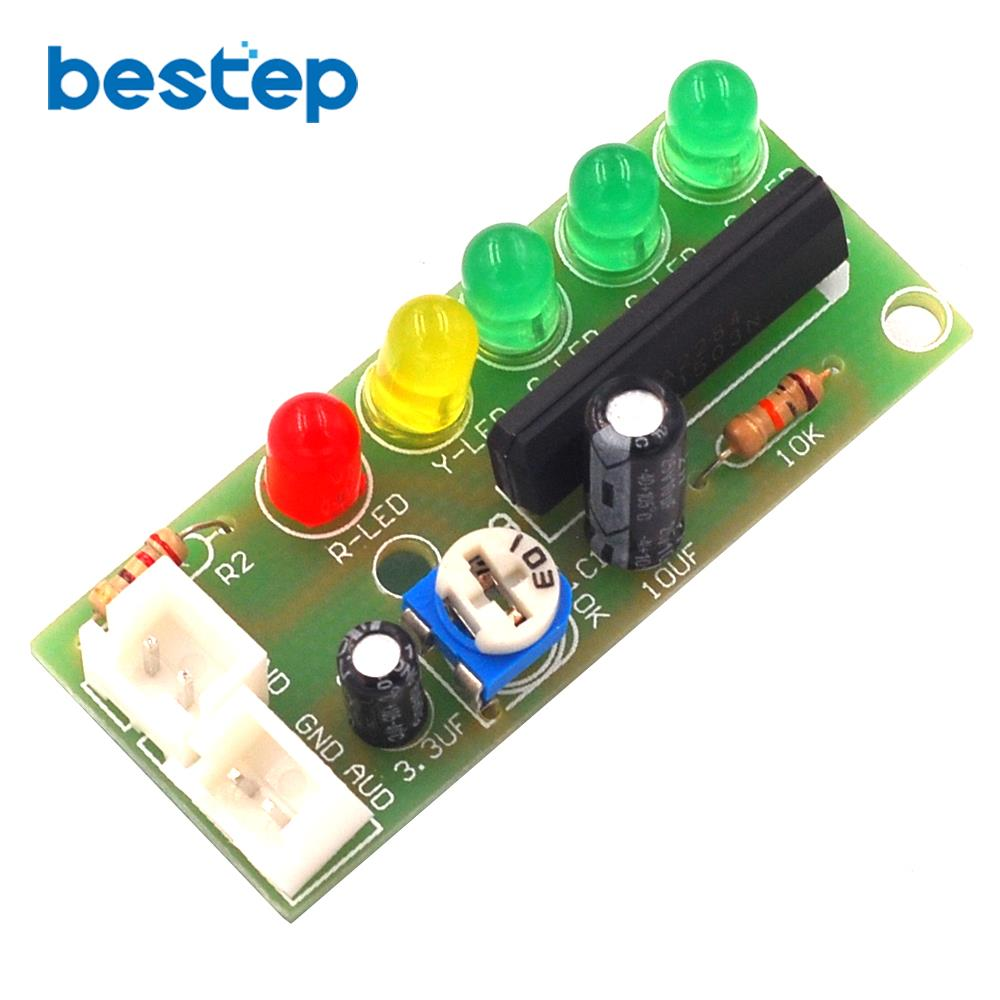 Audio Level Led Indicator Circuit Electronic DIY Production PCB Board Kit Parts