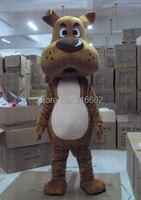 cosplay costumes New Professional Hund Dog Mascot Costume Fancy Dress Adult Size