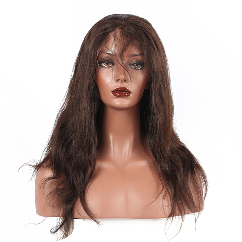 Brazilian Straight Lace Frontal Human Hair Wigs Pre Plucked With Baby Hair Color 2# Pre-Color Remy Hair Venvee