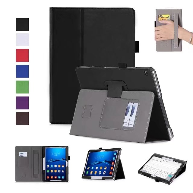 High Quality PU Leather Stand Case Cover For Huawei MediaPad M3 Lite 10 BAH-W09/AL00 9.6inch tablet protective skin wake/sleep ultra slim magnetic stand leather case cover for huawei mediapad m3 lite 8 0 cpn w09 cpn al00 8tablet case with auto sleep