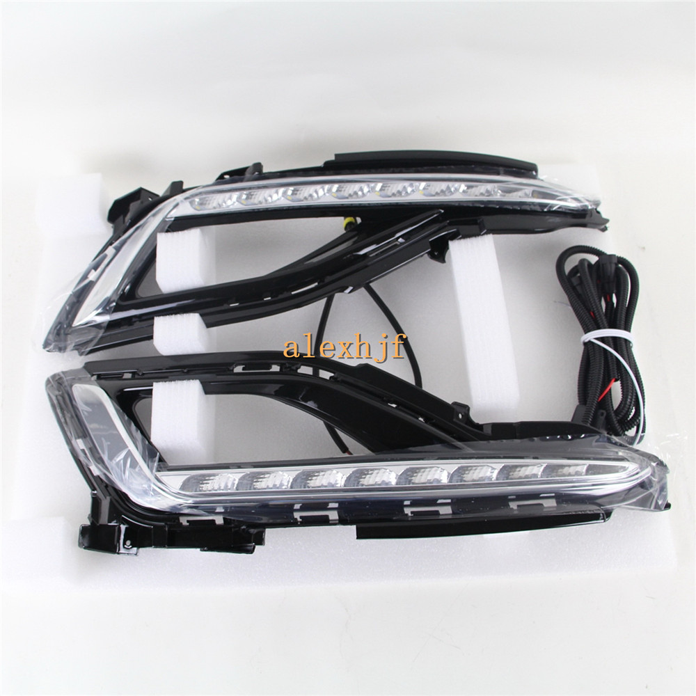 July King LED Daytime Running Lights DRL LED Front Bumper Fog Lamp Case for Hyundai 9th Sonata 2014~15, 1:1 Replacement for opel astra h gtc 2005 15 h11 wiring harness sockets wire connector switch 2 fog lights drl front bumper 5d lens led lamp