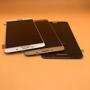 Image 3 - شاشة جديدة فائقة AMOLED LCD لهاتف سامسونج Galaxy A9 شاشة رقمية تعمل باللمس 2016 A9 Pro A910 A9100 قطع غيار