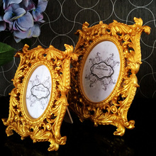 European style photo frame relief Rubens gold-plated luxury square pendulum