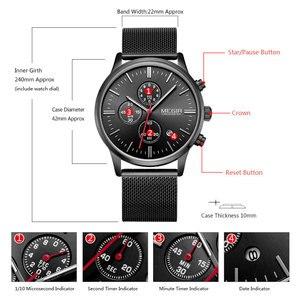 Image 4 - Megir relógio masculino de pulso, relógio de quartzo com pulseira de aço inoxidável, cronógrafo com calendário, luminoso analógico, moda masculina 2011