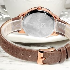 Image 5 - Zegarki damskie 2019 CURREN moda kreatywny analogowy zegarek kwarcowy na rękę Reloj Mujer Casual skórzane damskie zegar kobieta Montre femme